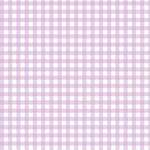 Lilac Purple Gingham