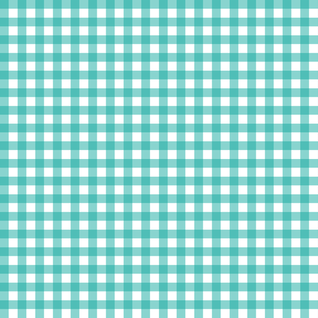 Teal Gingham fabric by sweetzoeshop on Spoonflower - custom fabric
