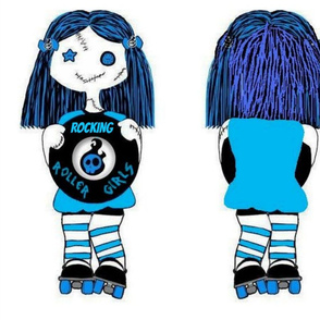 Large BLUE rocking doll