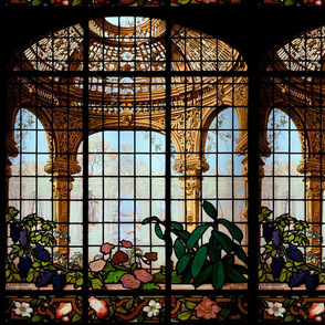 Henry G. Marquand House Conservatory Stained Glass Window ~ Medium