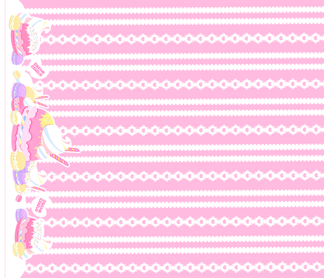 Birthday Macaron: Pink fabric by dreamcircus on Spoonflower - custom fabric