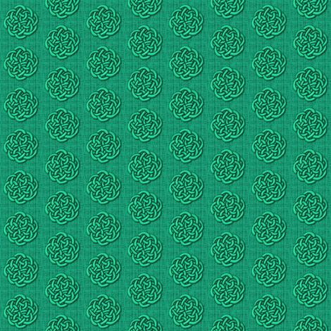 knots_-_green fabric by glimmericks on Spoonflower - custom fabric