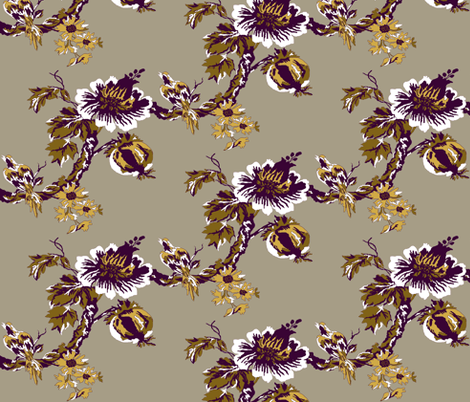 Botanical Tree / Eggplant fabric by paragonstudios on Spoonflower - custom fabric
