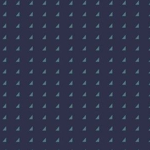 Tiny Triangles - Teal on Navy
