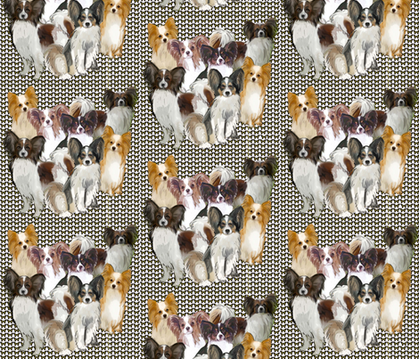Papillon Group Fabric fabric by dogdaze_ on Spoonflower - custom fabric
