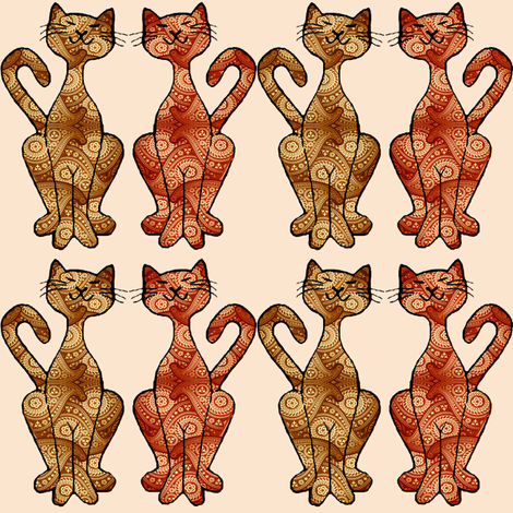 paisley kitties small fabric by krs_expressions on Spoonflower - custom fabric