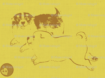 Puppy Love - yellow/brown