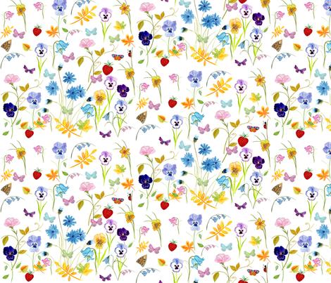 Flower Hunter Fabric fabric by de-ann_black on Spoonflower - custom fabric