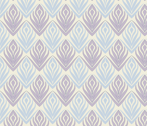 Budding Blooms in Periwinkle fabric by horn&ivory on Spoonflower - custom fabric