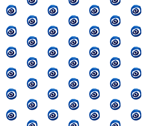 cestlaviv_evil eye fabric by cest_la_viv on Spoonflower - custom fabric