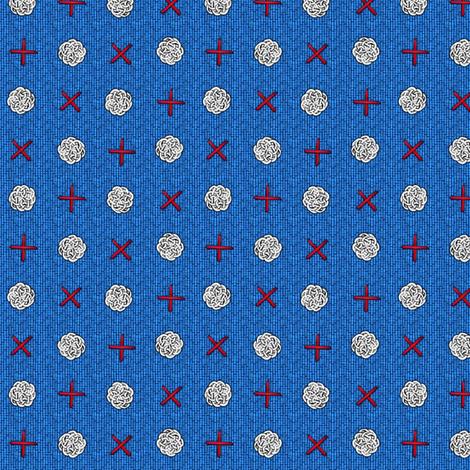 fairy_dots_on_blue fabric by glimmericks on Spoonflower - custom fabric