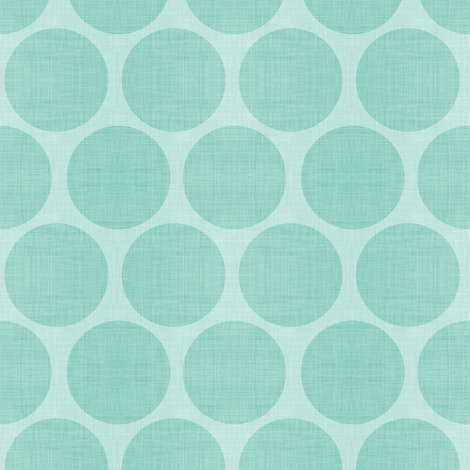 Mint Linen Dots fabric by sweetzoeshop on Spoonflower - custom fabric