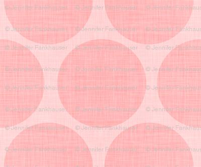 Pink Linen Dots