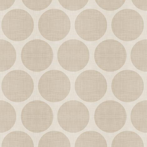 Beige Linen Dots fabric by sweetzoeshop on Spoonflower - custom fabric