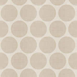 Beige Linen Dots