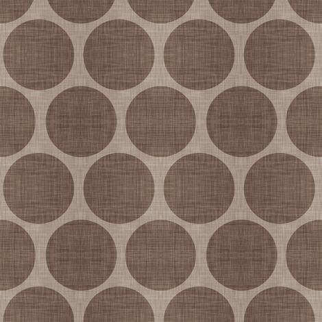 Mocha Linen Dots fabric by sweetzoeshop on Spoonflower - custom fabric