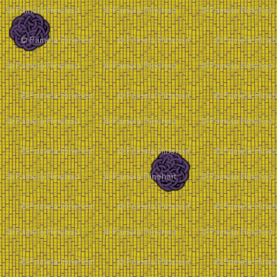 fairy dots 2 on mustard