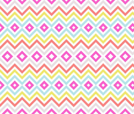 Multi Tribal Chevron fabric by sweetzoeshop on Spoonflower - custom fabric