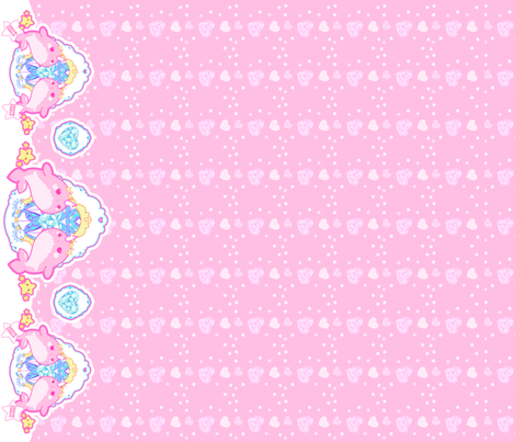 Princess Narwhal: Pink fabric by dreamcircus on Spoonflower - custom fabric