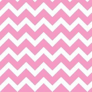 Bubblegum Pink Chevron