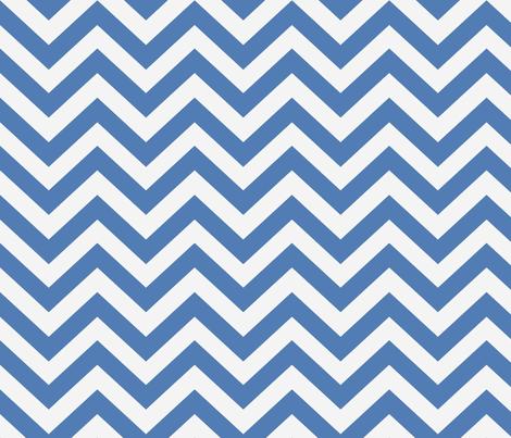 Gem Blue  Chevron  fabric by willowlanetextiles on Spoonflower - custom fabric