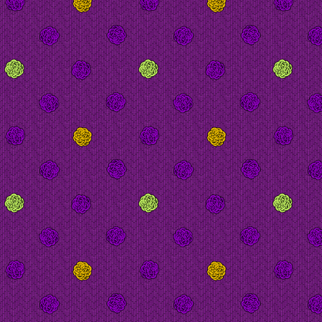 fairy_dots3__mardi_gras fabric by glimmericks on Spoonflower - custom fabric