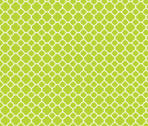 Apple Green Quatrefoil fabric by sweetzoeshop on Spoonflower - custom fabric
