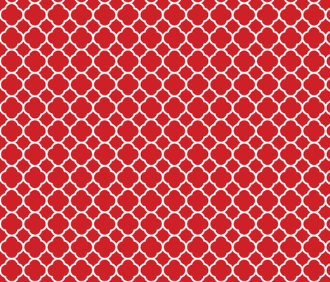 Red Quatrefoil fabric by sweetzoeshop on Spoonflower - custom fabric