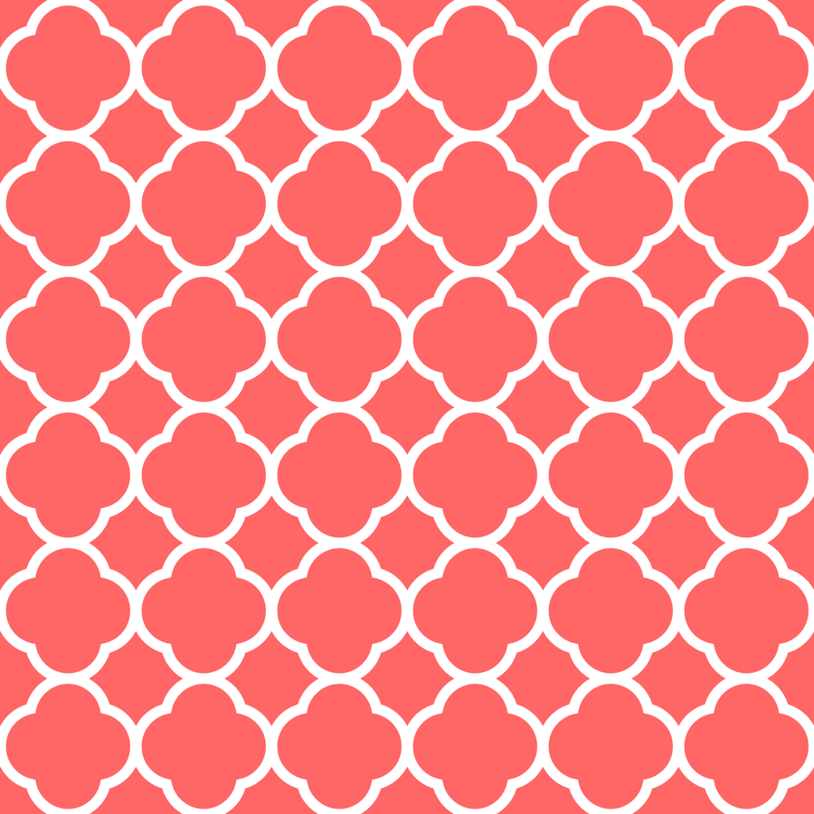 coral quatrefoil wallpaper  sweetzoeshop  spoonflower -