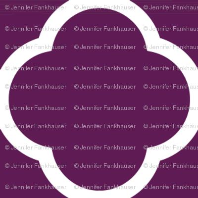 Plum Purple Quatrefoil