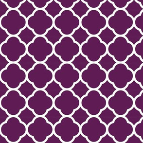 Plum Purple Quatrefoil