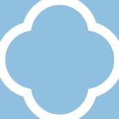 Sky Blue Quatrefoil