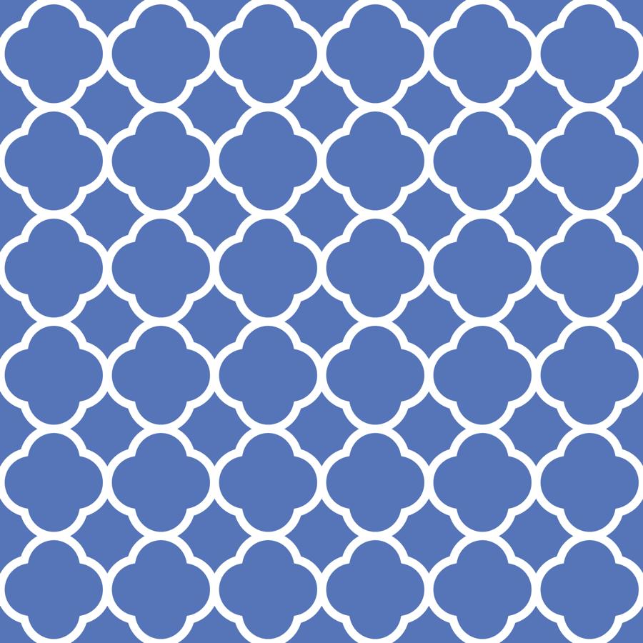 royal blue quatrefoil wallpaper  sweetzoeshop  spoonflower -