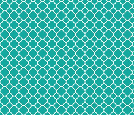 Teal Quatrefoil fabric by sweetzoeshop on Spoonflower - custom fabric