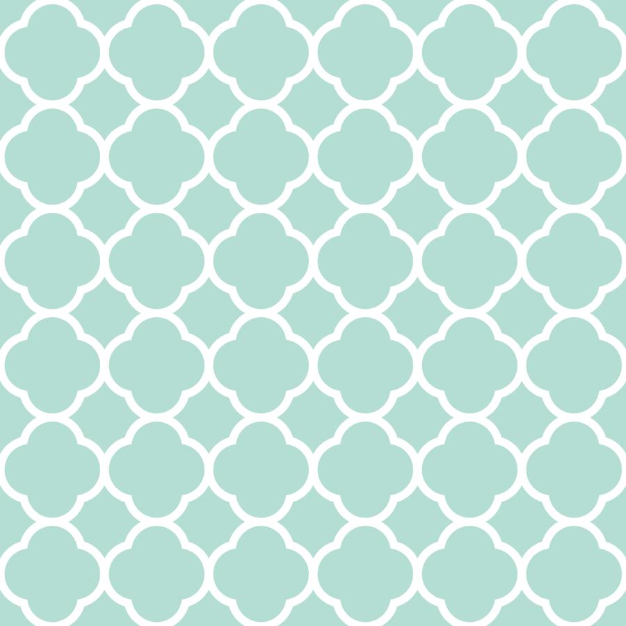 mint quatrefoil wallpaper  sweetzoeshop  spoonflower -