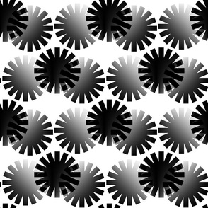 Gray Circles Abstract