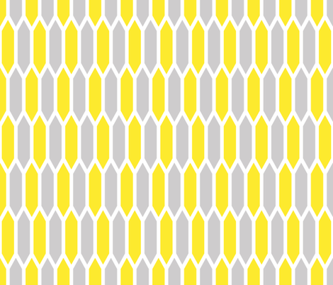 Gray and Yellow fabric by sweetzoeshop on Spoonflower - custom fabric