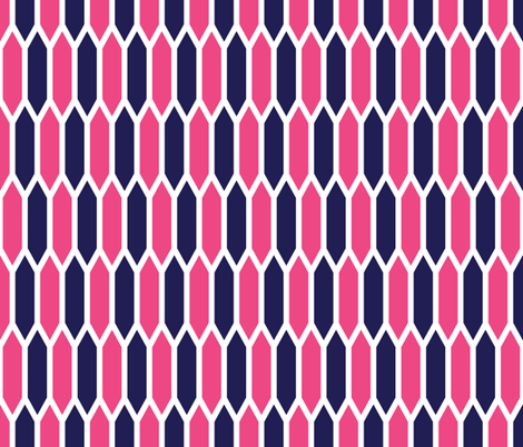 Pink and Navy fabric by sweetzoeshop on Spoonflower - custom fabric