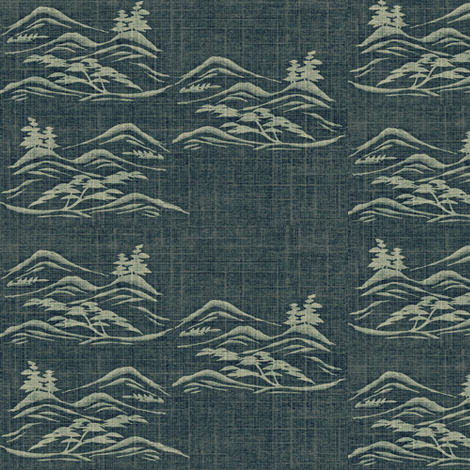 Asian Inkscape - charcoal and light grey fabric by materialsgirl on Spoonflower - custom fabric