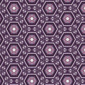 Lavender Garden Stitched Sampler 1