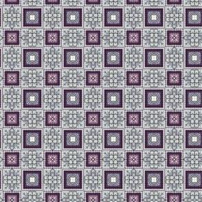 Lavender Garden Stitched Sampler 4