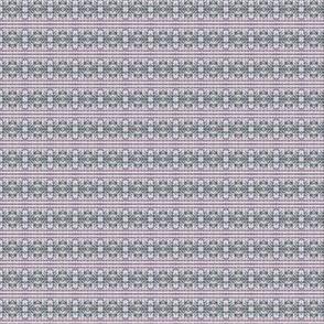 Lavender Garden Blackwork Stripe