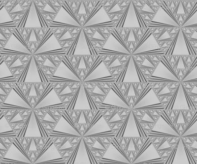 Tone on Tone Grey Triangles © Gingezel™ 2013