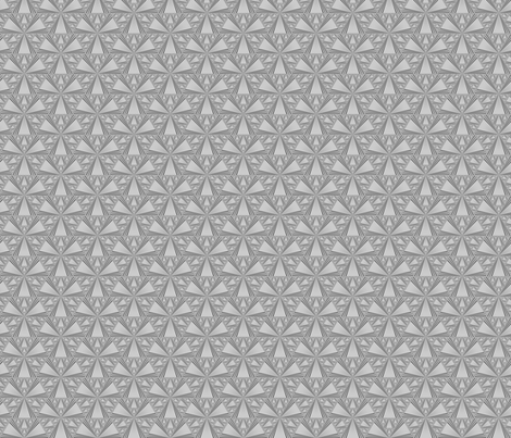 Tone on Tone Grey Triangles © Gingezel™ 2013 fabric by gingezel on Spoonflower - custom fabric