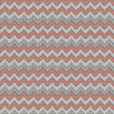 inuit chevron coral fabric by glimmericks on Spoonflower - custom fabric