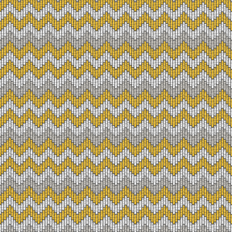 inuit chevron sunshine fabric by glimmericks on Spoonflower - custom fabric