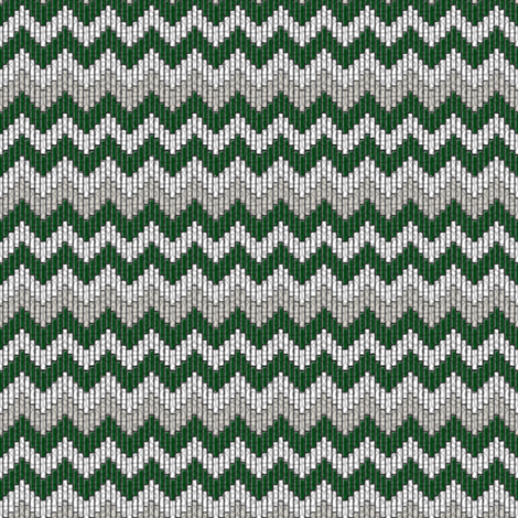 inuit chevron spruce fabric by glimmericks on Spoonflower - custom fabric