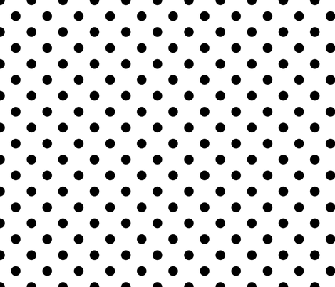 Black and White Polka Dots fabric by sweetzoeshop on Spoonflower - custom fabric