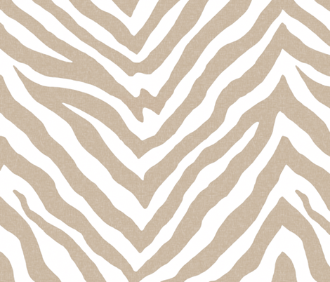 Zebra in Linen and White fabric by willowlanetextiles on Spoonflower - custom fabric