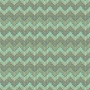 inuit chevron celadon